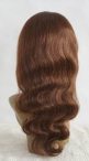 Silk TOP Full lace wigs 18 inch Body wave #4 human Indian Hair The Best Quality