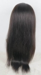 Light yaki silk top  full lace wigs #1b indian remy human hair