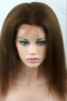 Glueless Full lace wigs with silk top Italian yaki straight 16