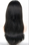 Silk top full wigs light yaki human hair baby hair bleached knots