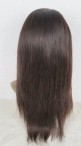 Glueless with silk top human hair wigs chinese virgin hair silky straight 16 inch Natural colour