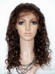 Curly lace front with silk top wigs cheap indian remy human hair