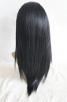 human hair Glueless lace wigs yaki 16 inch #1