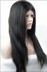 Coarse Yaki Glueless With Silk Top Lace  Wigs 100% Indian Human Hair