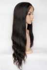 Glueless Silk top full lace wigs sales Malaysian virgin hair natural wave 16 inch