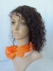 glueless Full lace wigs with silk top human hair curly with baby hair knots bleached