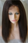 100% Chinese virgin human hair glueless with silk top Italian yaki color #2