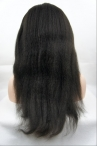 in stock glueless full lace wigs italian Yaki  knots bleached with baby hair