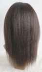 Italian yaki silk top bleached knots glueless full lace wigs for black women 12 inch #1b