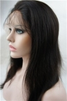 Indian virgin human hair silky straight natural color glueless full lace wigs with silk top
