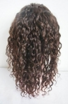 10 mm Curly 100% Indian remy human hair glueless with silk top full lace wig