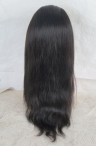 18'' #1B lace front human hair wigs for black women for cheap silky straight