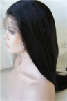 In stock silk top full lace wigs light yaki 18 inch #1b