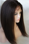 In stock glueless silk top full lace wigs Italian Yaki 16