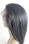 glueless lace front wigs indian remy human hair 12 inch #1 light yaki