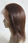 glueless lace front human hair wigs for black women 10 inch #2 silky srtaight