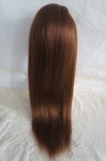 glueless lace front human hair wigs yaki straight 20 inch #4