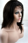 Glueless full lace wigs silky straight indian remy human hair