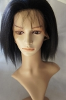 Stock full lace wig Italian yaki - 100% real Indian remy hair - 10