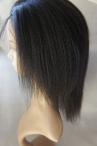 Free parting silk top full lace Italian yaki Indian remy human hair 10 inch color #1b