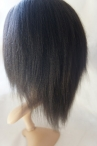 Glueless with silk top Indian remy hair Italian yaki texture 10 inch color #1b