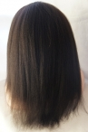Lace front cap for Summer with weft on back Indian remy hair 14