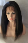 Affordable lace front  Indian remy hair Italian yaki texture 16