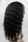 Affordable silk top glueless lace wigs indian remy human hair deep wave