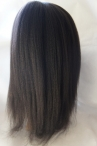 Free parting full lace wig Italian yaki 18 inch color #1b Indian remy hair