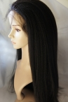 With silk top free parting full lace wig Italian yaki 22 inch color #1b Indian remy hair
