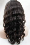18 inch natural color deep wave full lace wig Indian remy human hair