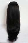 24 inch #1 Indian remy human hair glueless full lace wig with silk top silky straight