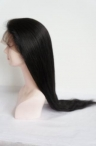 24 inch #1 Indian remy human hair common full lace wig with silk top silky straight