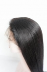 24 inch #1 Indian remy human hair lace front wig silky straight