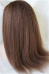 Free parting full lace wig Italian yaki 18 inch color #4 Indian remy hair