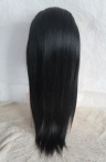 Lace front glueless wig coarse yaki 16 inch color #1 Indian remy hair