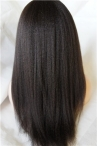 Italian Yaki Natural Color lace front wig real human hair Wigs Indian remy hair