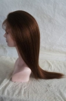 Color #4 light yaki 20 inch glueless full lace cap Indian remy hair
