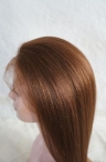 Color #4 light yaki 20 inch glueless full lace cap with silk top Indian remy hair
