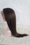 Indian remy hair Silk top light yaki full lace wigs 20 inch color #2