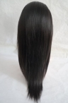 High quality full lace wigs light yaki indian remy hair 16 inch #1b