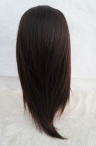 Chinese virgin silk top glueless light yaki knots bleached with baby hair 14 inch #2