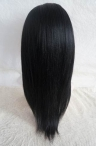 Human hair wigs cheap glueless lace front light yaki Indian remy hair 14 inch #1