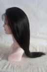 18'' #1b  Lace Front Wigs Silky Straight  Black 100% Human Indian Remy hair