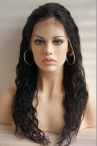 Glueless full lace wigs with silk top 14 mm curly 22 inch color #1 Indian remy hair