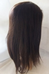 Glueless full lace wigs for women coarse yaki Indian remy hair 20 inch #2