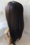 Human hair wig for black women coarse yaki silk top lace wigs 20 inch #2