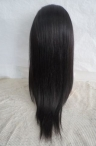 Silk top light yaki full lace wig 20 inch #1b 100% Indian remy human hair
