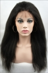 custom order glueless silk top full lace wig  Italian yaki straight  with 4*10 silk top