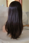 In stock full lace with silk top wigs 18 inch #2 coarse yaki Indian remy human hair